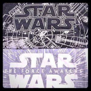 2 sz M mens starwars shirts